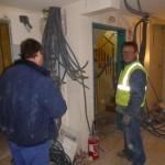 Discussions sur le chantier